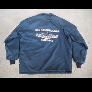 Vtg NAM Era Navy USS Simon Submarine Jacket Mens M